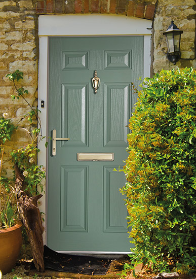 Meridian Composite Front Door Green