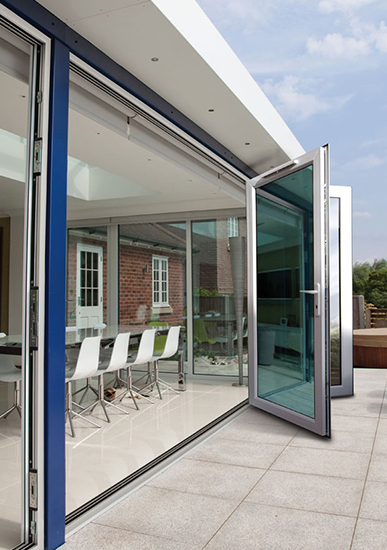 uPVC Bi-Fold Doors Grey